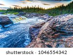 forest wild river landscape   Shutterstock . vector #1046554342
