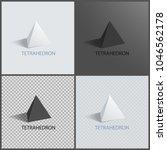 tetrahedrons figures  vector... | Shutterstock .eps vector #1046562178
