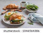 delicious breakfast with... | Shutterstock . vector #1046564386