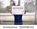 network and banner concept | Shutterstock . vector #1046580142