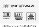 Microwave Oven Safe Icon...