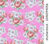 rose and chamomile flower hand... | Shutterstock .eps vector #1046594056