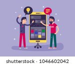 developers discussed... | Shutterstock .eps vector #1046602042