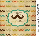 card with mustache for father's ... | Shutterstock .eps vector #104661572
