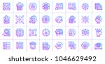 outline icon set of data... | Shutterstock .eps vector #1046629492