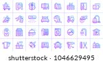 big linear icons set of hotel... | Shutterstock .eps vector #1046629495