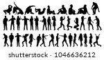 dance  set  people silhouettes | Shutterstock .eps vector #1046636212