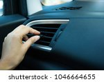 using hand for adjust  air... | Shutterstock . vector #1046664655