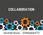 collaboration concept.... | Shutterstock .eps vector #1046666572