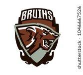 logo  emblem of an aggressive... | Shutterstock .eps vector #1046667526