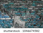 Blue Brick Wall Through White...