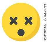 smiley with crossed eyes  dizzy ... | Shutterstock .eps vector #1046679796