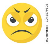 an emoticon depicting... | Shutterstock .eps vector #1046679808