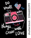 typography slogan with cute... | Shutterstock .eps vector #1046681095