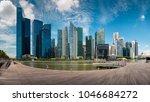 singapore city skyline of... | Shutterstock . vector #1046684272