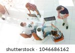 top view of group of business... | Shutterstock . vector #1046686162