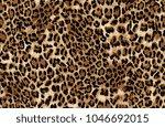 Seamless Leopard Pattern Print...
