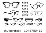 set of various stylish eye... | Shutterstock .eps vector #1046700412