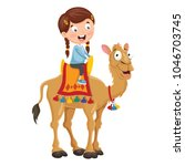 vector illustration of kid... | Shutterstock .eps vector #1046703745