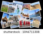world landmarks collage   photo ... | Shutterstock . vector #1046711308