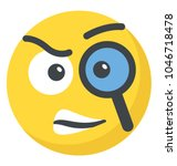smiley face with magnifier ... | Shutterstock .eps vector #1046718478