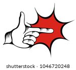 pointing hand. vector of... | Shutterstock .eps vector #1046720248