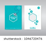 printhealth care cover template ... | Shutterstock .eps vector #1046720476