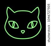 green neon glowing domestic cat ...   Shutterstock . vector #1046727505