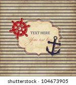 Vintage Scrap Nautical Card...