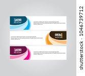 banner background.modern design.... | Shutterstock .eps vector #1046739712