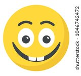 an emoticon depicting... | Shutterstock .eps vector #1046742472