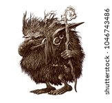fantasy illustration of a fairy ... | Shutterstock . vector #1046743486