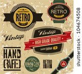 Stock vector retro labels set vintage labels collection 104674508