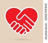 heart handshake icon | Shutterstock .eps vector #1046749345