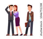 woman whispering gossip secrets ... | Shutterstock .eps vector #1046751238