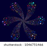 multicolored space technology... | Shutterstock .eps vector #1046751466
