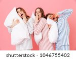 portrait of sleeping women 20s... | Shutterstock . vector #1046755402