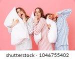 portrait of sleeping women 20s... | Shutterstock . vector #1046755402