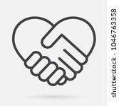 heart handshake icon | Shutterstock .eps vector #1046763358
