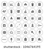 real estate icons set   house... | Shutterstock .eps vector #1046764195