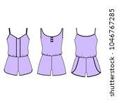 clothes. women's homewear.... | Shutterstock . vector #1046767285