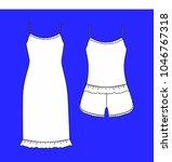 clothes. women's homewear.... | Shutterstock . vector #1046767318