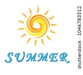 summer lettering design.   Shutterstock .eps vector #1046783512