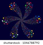 psychedelic intellect gears... | Shutterstock .eps vector #1046788792