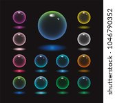 Vector Rund Glass Sphere Icons...