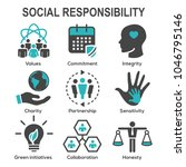 social responsibility solid... | Shutterstock .eps vector #1046795146