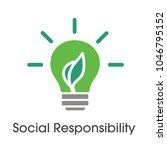 social responsibility solid... | Shutterstock .eps vector #1046795152