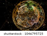abstract technology background... | Shutterstock . vector #1046795725