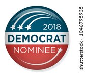 retro vote or election pin... | Shutterstock .eps vector #1046795935