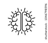 brain icon  vector illustration | Shutterstock .eps vector #1046798596